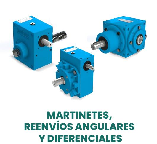 Martinetes, reenvíos angulares y diferenciales